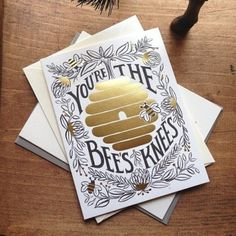 You'er the bee's knees #print #design #graphic