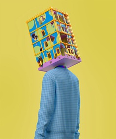 Like this? You'll love the rest of the series on mindsparklemag.com Surreal Scenes is an experimental series of 3D illustrations by Tokyo-based artist, Kota Yamaji. The surrealist designs are brought to life in Yamaji's signature use of bright, pop-art colour combinations.