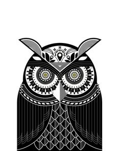 Bubo the Owl #white #owl #eyes #black #and #bubo