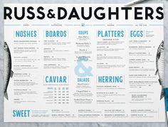 Russ & Daughters #menu #identity #design #print #food