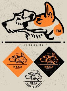 My NEW LOGO by MEKA #illustration #orange #black #dog