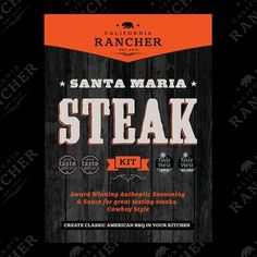 CaliforniaRancher_SantaMariaSteak_2.jpg 600×600 pixels #packaging #branding