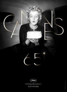 Lover & Scorpio - elplacerde: El Festival de cine más importante... #cannes #monroe #2012 #poster #cartel #marilyn