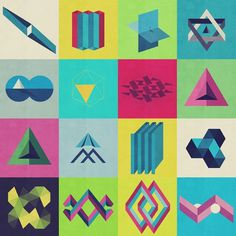 Arithmetic on the Behance Network #print #design #colour #fine