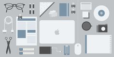 No Right Process, Just Perfect Practice #flat #objects #vector #aerial #design #illustration #desk