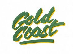 Gold Coast #dave #coleman #gold #coast #typography