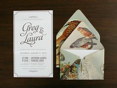 lovely-stationery-greg-and-laura-wedding-invite-1 #bird #stationery #envelope #invitation #wedding #print