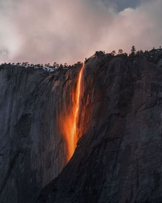 Firefall In Yosemite Valley, Sarah Bethea