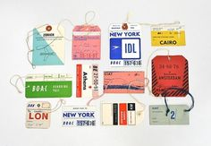 FFFFOUND! | 20x200 - Print Information | Day 256: Vintage Airline Tags, by Lisa Congdon #vintage #airline #tags