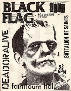 oldpunkflyers:1981 #frankenstein #blackflag