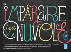 La vita nòva 2.2 Imparare tra le nuvole on the Behance Network #handwriting