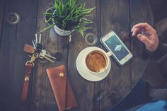Front pocket wallet and key lanyard design #leather #goods #quality #coffee #lifestyle