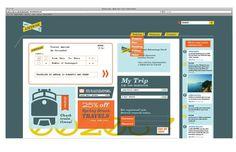 Amtrak on the Behance Network #branding #amtrak #retro #bold #website #colors