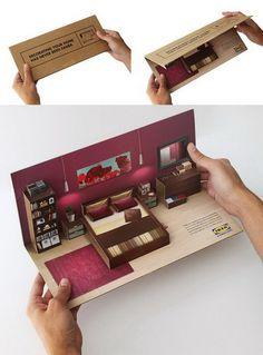 Ikea Flat Pack Direct Mailer #pop #up #poster #popup #3d #brochure