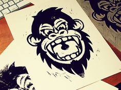 Dribprint #print #ape #screen #illustration #gorilla