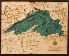 Lake Superior #map #laser #topography