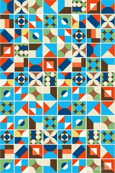 geowall #vintage #retro #colorful #patterns #color