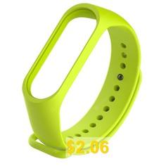 Silicone #Smart #Glossy #Wristband #for #Xiaomi #Mi #Band #4 #- #TEA #GREEN
