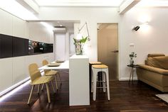 Space-Saving Design for Small Apartment - InteriorZine