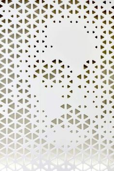 Dezeen » Blog Archive » Open Lounge by NAU + DGJ #signage #lasercut #holes