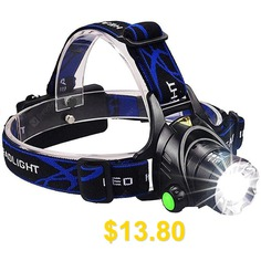 Head #Torch #flashlight #Head #lamp #Fishing #Hunting #Light #- #DENIM #DARK #BLUE
