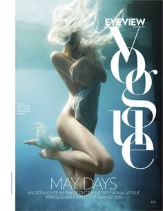 Jessiann Gravel-Beland | Luis Monteiro | Vogue India May 2012 | 'Water Sign' #photography #editorial #magazine #typography