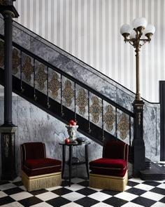 marble floor, staircase, New Orleans / EskewDumezRipple