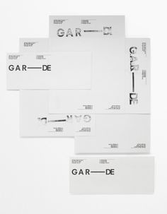 GAR—DE #stationary #branding