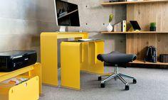 Snyggt litet skrivbord - Med stil | Tjock / Hemmet #computer #desk #work #table #station