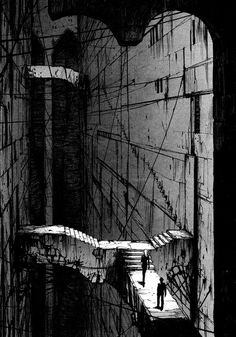 Heaven4D: Photo #white #steps #black #bridges #illustration #and #drawing