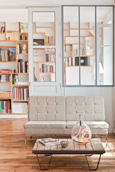 dustjacket attic: Parisian Loft #bookcase