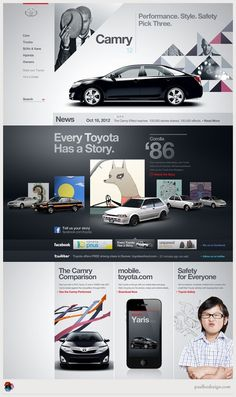 Design / toyota #website