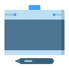 See more icon inspiration related to tablet, draw, wacom, graphic tablet, art and design, ui, edit tools, graphic design, drawing tablet, illustration, electronics, device, digital, interface, pen, drawing and technology on Flaticon.