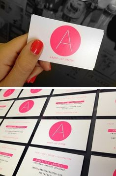 Ⓐ Ⓒ / Pinterest #cool #business #pink #design #pantone #logo #cards #awesome #neon