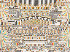 Matthew Craven #tribal #markers #geometric #paint #pen