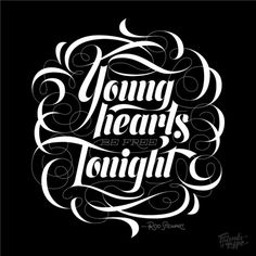 Young Turks — Friends of Type #stewart #rod #script #typography