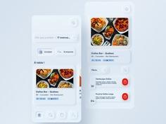 SKEUOMORPH FOOD DELIVERY APP BY VIRGIL CAFFIER