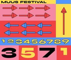 Muus Festival Identity Concept - Mindsparkle Mag Beautiful identity project designed by Fanny Papay for Muus Festival. #logo #packaging #identity #branding #design #color #photography #graphic #design #gallery #blog #project #mindsparkle #mag #beautiful #portfolio #designer