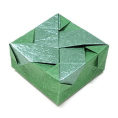 How to make a closed square origami box II (http://www.origami-make.org/howto-origami-box.php)