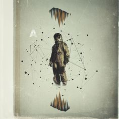 Vacancy Art Print #astronaut #design #graphic #collage