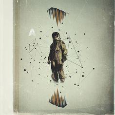 Vacancy Art Print #graphic design #collage #astronaut