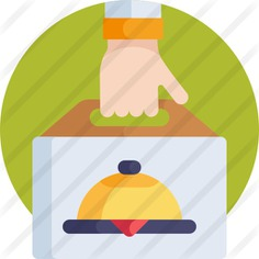 See more icon inspiration related to shipping and delivery, food and restaurant, gastronomy, take away, shopping bag, dish, delivery, hand, lunch, bag and food on Flaticon.