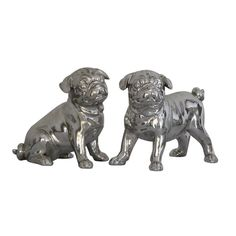 Pug Dogs Statues, set of 2