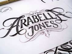 Handlettered Logotypes on Behance