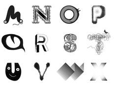 Creative Review The A to Z project #typography