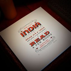 I'd like to go to India… | Flickr - Photo Sharing! #type #lettering #india #typography
