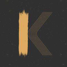 K - Heymikel #lettering #illustration #letters #typograhie