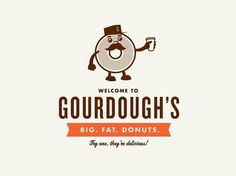 Identity | Cody Haltom | Design, Illustration & Art Direction #donuts #cody #gourdoughs #haltom #futu