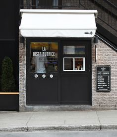 Smallest cafe place in North America, visual identity #identity #coffee #exterior