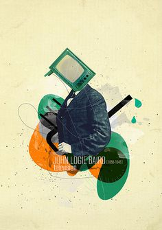 inventors & discoveries-illustration #design #graphic #illustration #art #collage